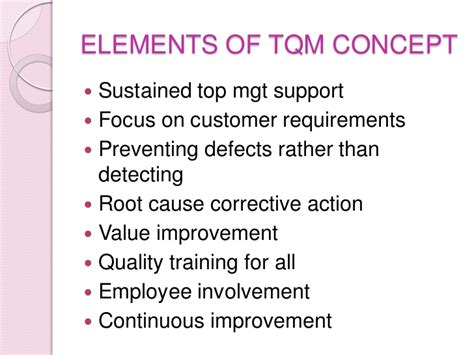 Mba In Total Quality Management Scope tqm