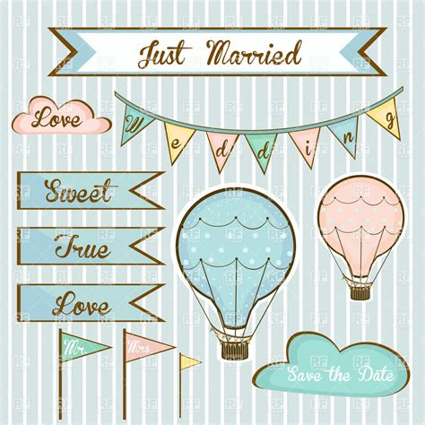 Wedding Invitation Banner Free Vector by Design Elements For Wedding Invitations Flags Banners