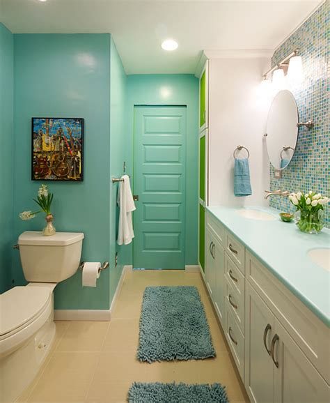 Modern Bathroom Colors Colorful And Modern Bathroom Contemporary Bathroom Dc Metro By Olamar Interiors