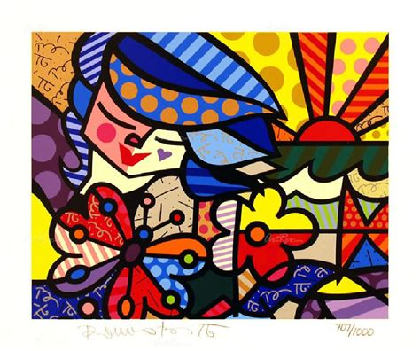 britto garden romero britto from the britto garden serigraph on paper
