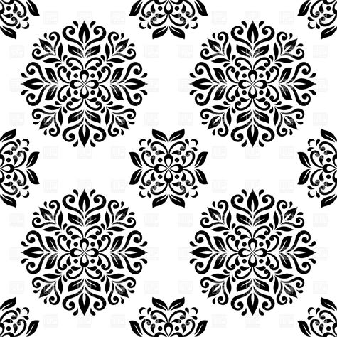 wallpaper vector black and white black and white mandala seamless wallpaper royalty free