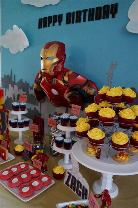 avengers iron man birthday party ideas photo