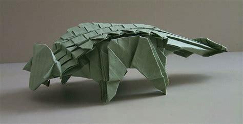 Origami Ankylosaurus - origami ankylosaurus