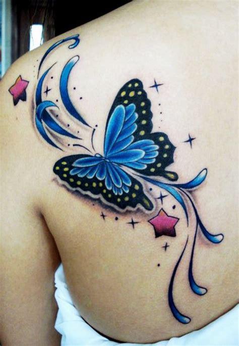 imagenes mariposas tattoos mariposa y estrellas tatuajes para mujeres