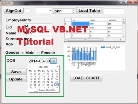 mysql date format b mysql vb net tutorial 19 how to use datetimepicker and