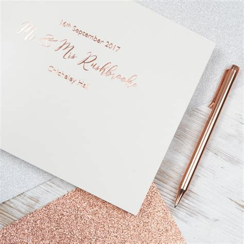 Personalised Leather Bound Wedding Guest Book ? BeGolden