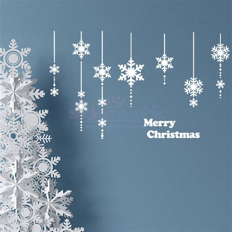 Ballard Designs Christmas Stockings 28 snowflake wall stickers festive snow flake wall
