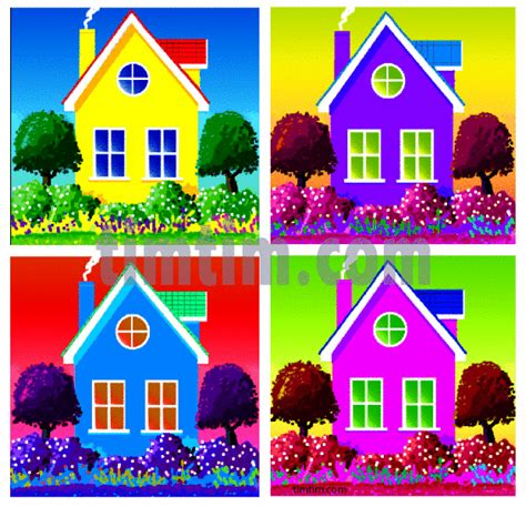 house drawing tool home colored drawing