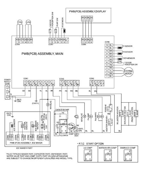 wiring diagram for kenmore elite refrigerator wiring