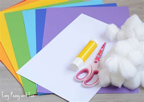 Colour Paper Crafts - simple 3d rainbow paper craft easy peasy and