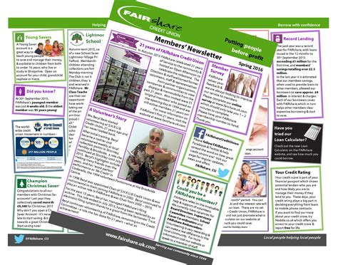 Credit Union Newsletter Members Newsletter Out Now Fairshare Credit Union