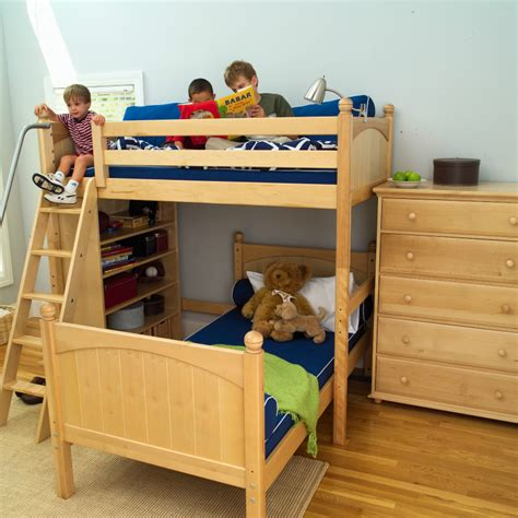 Twin Over Full Bunk Beds For Kids Corner L Shaped Bunk Bed Boys