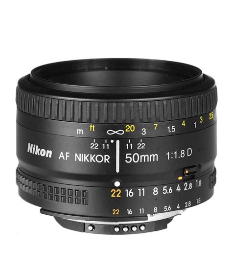 Nikon Lensa Af Nikkor 50mm F 1 8d nikon af nikkor 50mm f 1 8d lens price in india buy nikon