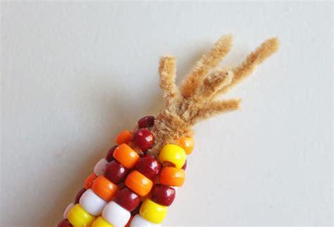 pony bead indian corn cutesy crafts