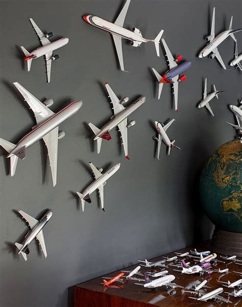 use accessories to create kid s room theme airplane