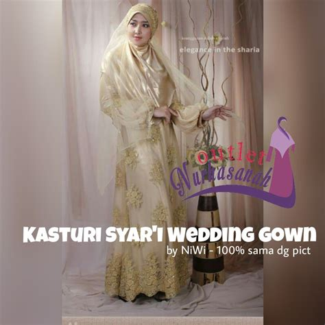 baju pengantin muslimah modern kasturi syar i wedding gown