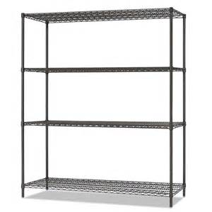 wire shelving black shop alera 6 ft x 18 in black anthracite wire shelf at