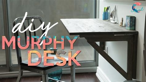 save space   murphy desk complete tutorial youtube