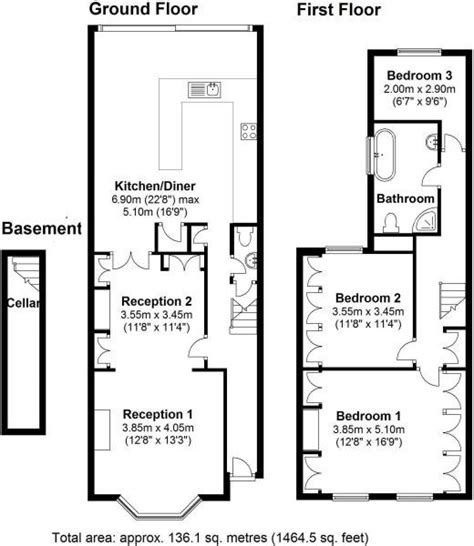 terraced house floor plans london 5 bed terraced house on hinton road se24 to
