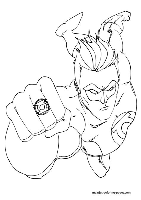 green lantern coloring pictures images