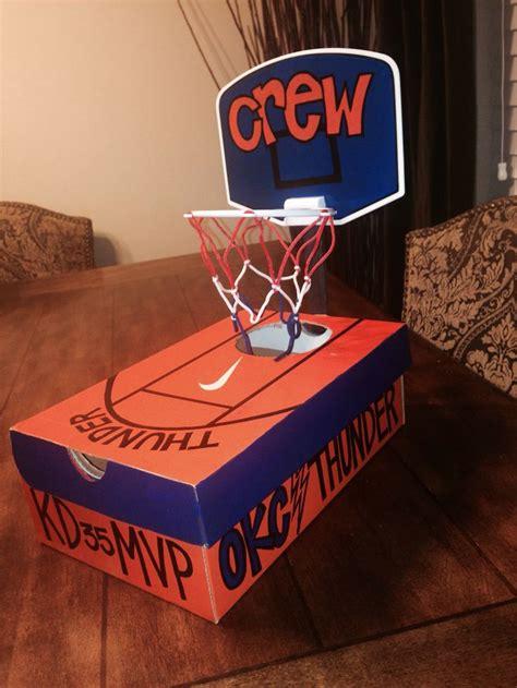 sports box ideas okc thunder basketball valentines box bambinos