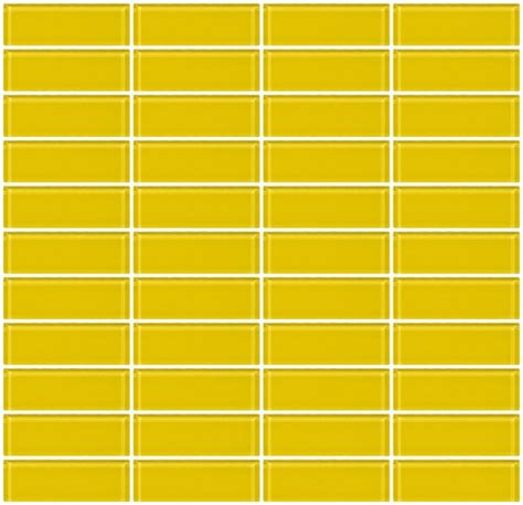 Glass Subway Tile Kitchen Backsplash Glass Tile 1x3 Inch Bright Yellow Glass Subway Tile Stacked