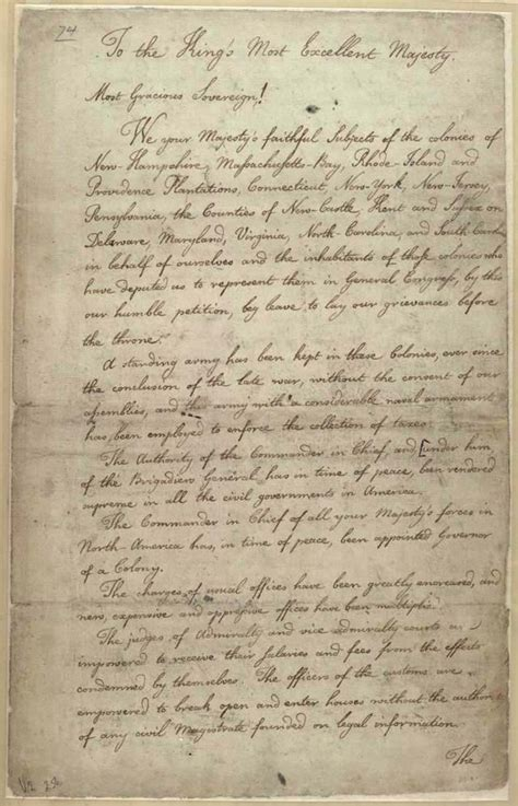 a up letter to king george iii america colonial grievances letter to king george iii