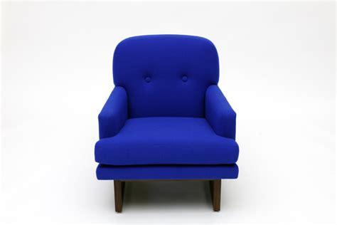 In A Blue Armchair by Artless Electric Blue Armchair Furnish Burnish