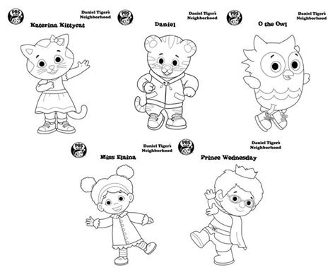 coloring page daniel tiger daniel tiger coloring pages to print 6df21 daniel tiger