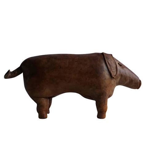 pig ottoman 20th century leather ottoman pig by d omersa for sale at