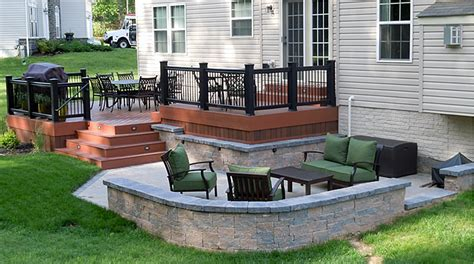 retaining wall patio design patio design retaining walls custom decks patios