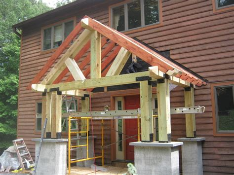 timber frame home shed porch timber frame porch eclectic porch philadelphia