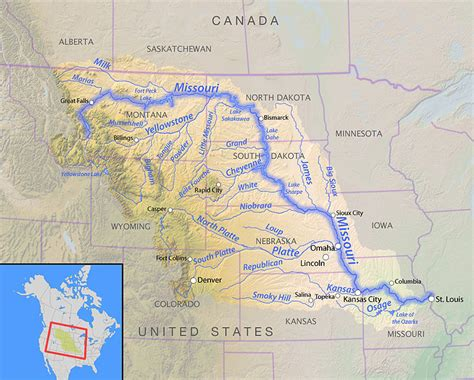 missouri map with rivers the missouri river in 1894 the epa