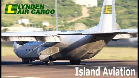 lynden air cargo lockheed   arrival compilation  st