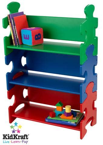 kidkraft puzzle book shelf primary 14400
