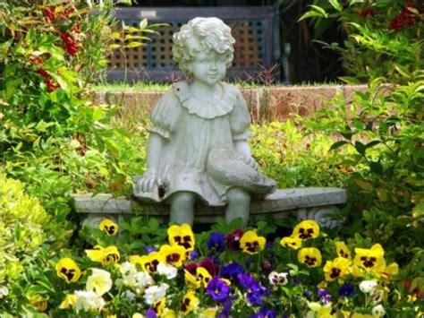 little girl sitting on bench statue 50 stunning garden statue ideas ultimate home ideas