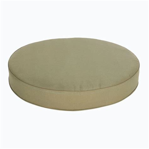 round cushion ottoman hton bay edington 38 in green round replacement patio