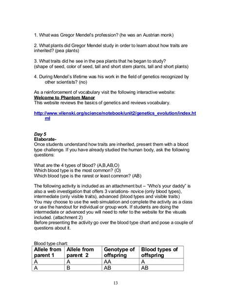 chapter 13 section 1 applied genetics study guide answers 7th heredity genetics 10 13 08