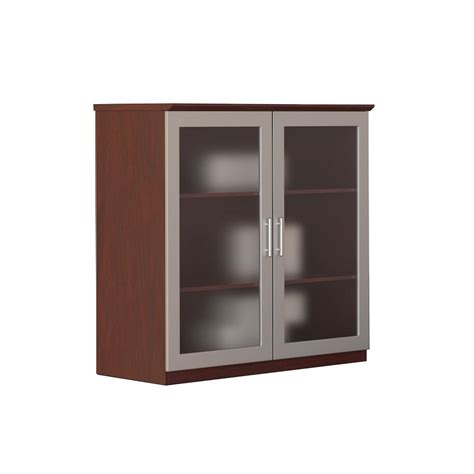 Mahogany Kitchen Cabinet Doors 36 Quot Glass Door Cabinet Mahogany
