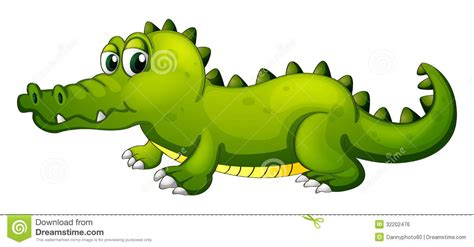 imagenes de vector the crocodile a giant green crocodile stock vector illustration of