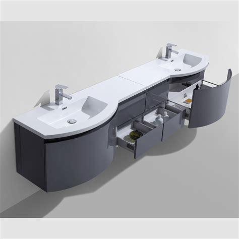 "Alya Bath AT 8110 D 96"" Double Modern Wall Mount Bathroom"