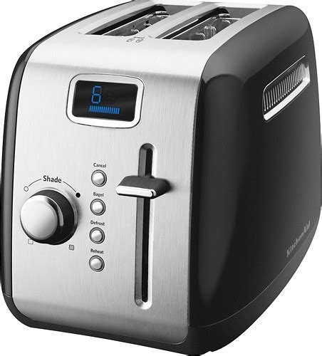 Which Toasters Best Buy Kitchenaid 2 Slice Wide Slot Toaster Black Kmt222ob Best Buy
