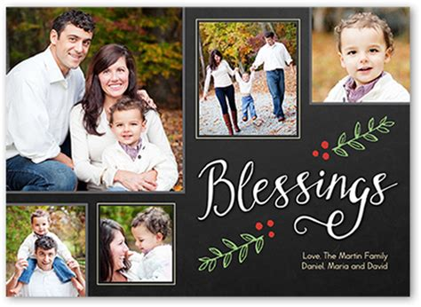 Family Picture Card Templates by So Many Blessings 5x7 Religious Photo Cards
