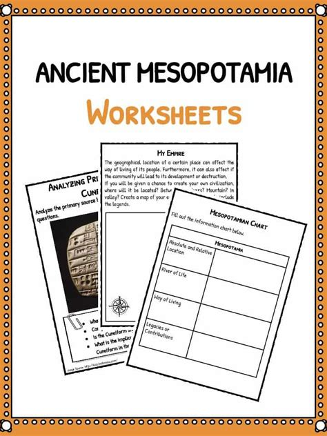 ancient worksheets ancient mesopotamia facts worksheets teaching resources