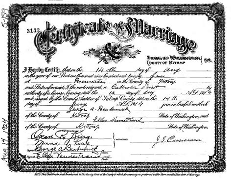 Kitsap County Birth Records Benbennick Family Information