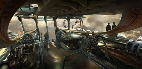 Airship Interior by Spaceship Cockpit Interior Search Sci Fi