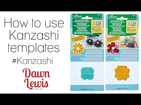 how to use kanzashi flower templates youtube
