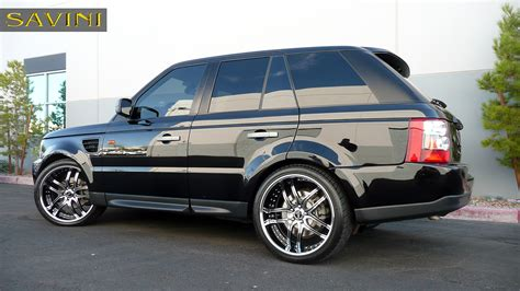 black chrome range rover range rover sport savini wheels