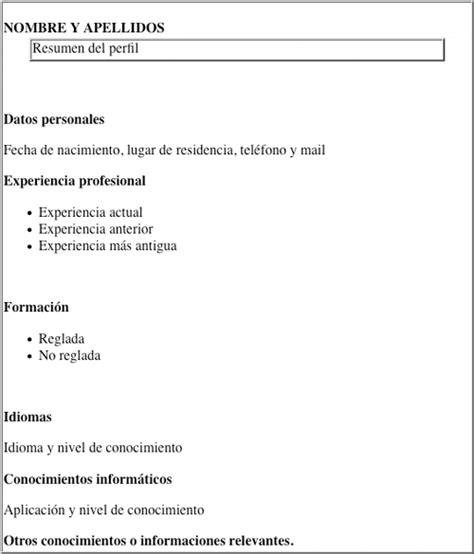 Plantilla De Curriculum Vitae Facil curriculum vitae definanzas