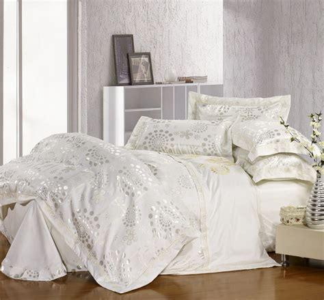 big white comforter free shipping satin bedding big jacquard piece set